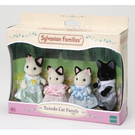 Familia Gatos Esmoquin