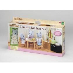 Sylvanian Families Cocina Country con Mamá Gata