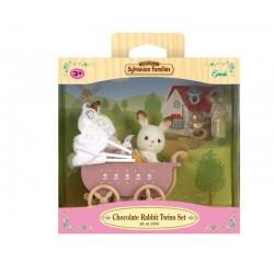 Sylvanian Families 5018 Set Gemelos Conejos Chocolate