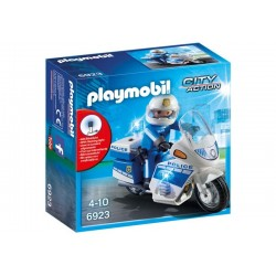 Playmobil® 6923 Moto de Policía con Luces Led