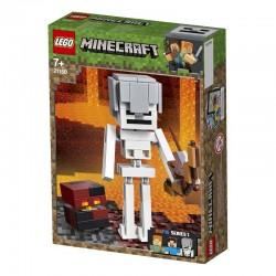 Lego® 21150 BigFig Minecraft: Esqueleto con Cubo de Magma