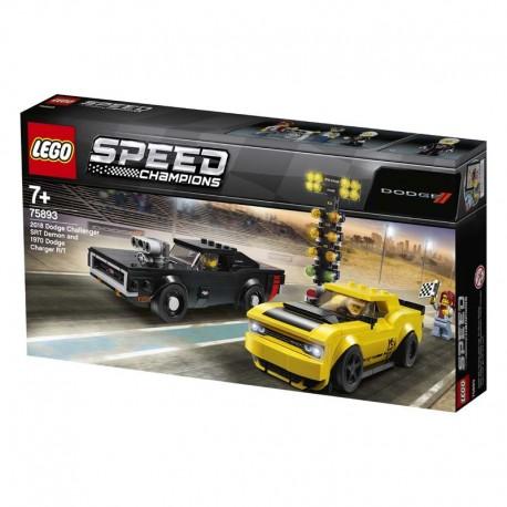 Lego® 75893 Dodge Challenger SRT Demon de 2018 y Dodge Charger R/T de 1970