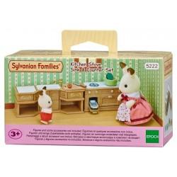 Sylvanian Families 5222 Set Horno, Fregadero y Encimera de Cocina