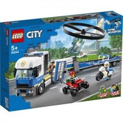 Lego® 60244  Policía: Camión de Transporte del Helicóptero