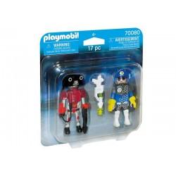Playmobil® 70080 Duo Pack Policía del Espacio y Ladrón