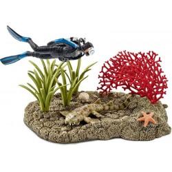 Schleich® 42328 Buceador en Arrecife de Coral