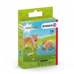 Schleich® 42479 Mamá Shiba Inu y su Cachorro
