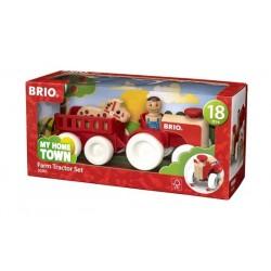 BRIO® Set de Tractor con Remolque y Caballo