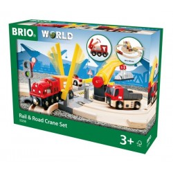 BRIO® 33208 Conjunto de Grúa por Vía y Carretera