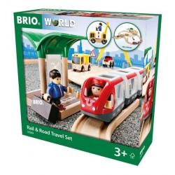BRIO® 33209 Conjunto de Viaje por Vía y Carretera