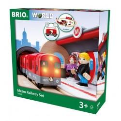 BRIO® 33513 Conjunto de Red Ferroviaria con Metro