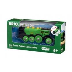 BRIO® 33593 Locomotora de Gran Acción Verde