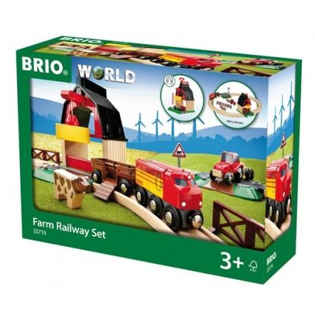 BRIO® 33719 Conjunto de Red Ferroviaria con Granja