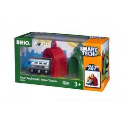 BRIO® 33834 Locomotora Inteligente con Túneles de Acción