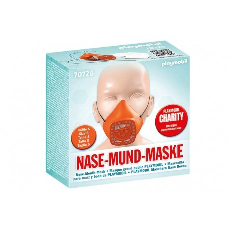 Playmobil® 70726 Máscara para nariz y boca de PLAYMOBIL talla S Naranja