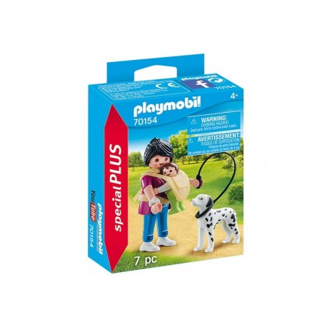 Playmobil® 70154 Mamá con Bebé y Perro