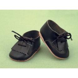 JP30003 Zapatos Flecos Piel Negros