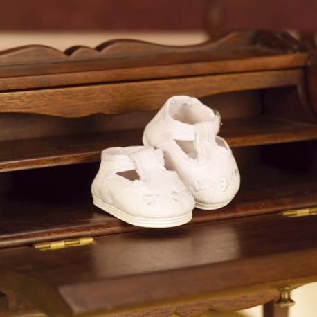 JB35008 Juanín Bebé Zapatos Loneta Blanco