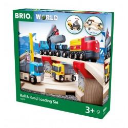 BRIO® 33210 Conjunto de Carga por Vía y Carretera