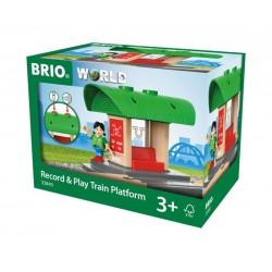 BRIO® 33840 Estación de Tren de Grabar y Jugar
