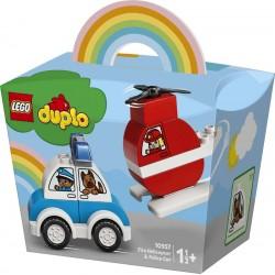 LEGO® 10957 Helicóptero de Bomberos y Coche de Policía