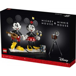 Lego® 43179 Personajes Construibles: Mickey Mouse y Minnie Mouse