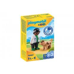 Playmobil® 70407  1.2.3. Veterinario con Perro