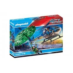 Playmobil® 70569 Helicóptero de Policía: persecución en paracaídas