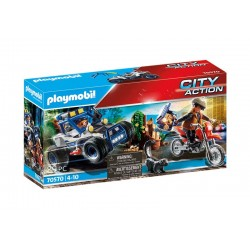 Playmobil® 70570 Vehículo Todoterreno de Policía: persecución del ladrón de tesoros.