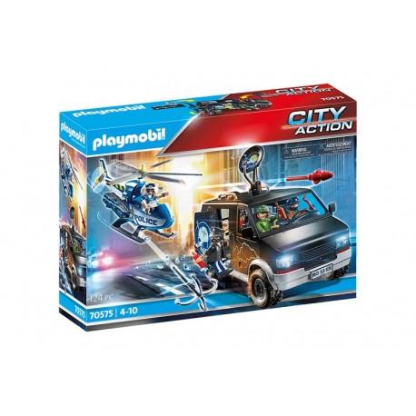 Playmobil® 70575 Helicóptero de Policía: persecución del vehículo huido