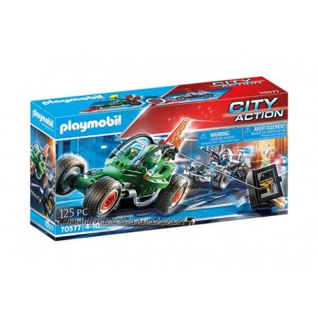 Playmobil® 70577 Kart Policial: persecución ladrón de caja fuerte