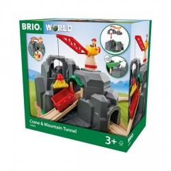 BRIO® 33889 Túnel con Grúa y Montaña