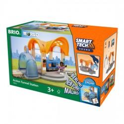 BRIO® 33973 Estación con Túneles de acción  Smart Tech