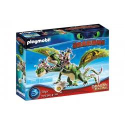Playmobil® 70730 Dragon Racing: Dragón 2 Cabezas con Chusco y Brusca