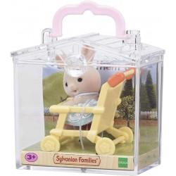 SF 5200 Bebé Para Llevar Conejo Blanco con Cochecito