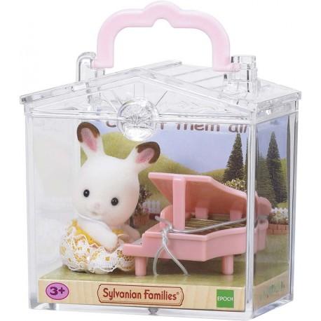 SF 5202 Bebé Para Llevar Conejo Chocolate con Piano