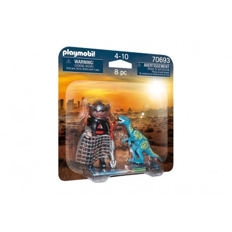 Playmobil® 70693 DuoPack Velociraptor y Saqueador