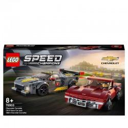 LEGO® 76903 Deportivo Chevrolet Corvette C8.R y Chevrolet Corvette de 1968