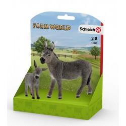 Schleich® 13849 Pack Burro y Borriquillo