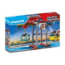 Playmobil® 70770 Grúa con Contenedores